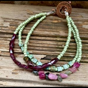 Bracelet handcrafted with semiprecious stones